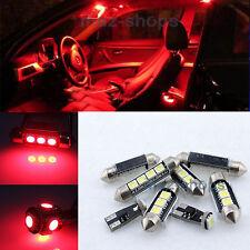 11PC Red Led Light Interior Package kit Error Free 12V for 1999-2005 BMW E46