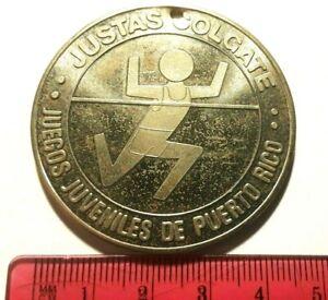 JUSTAS COLGATE JUEGOS JUVENILES PUERTO RICO 1980 TOOTHPASTE MEDALLA PASTA DENTAL