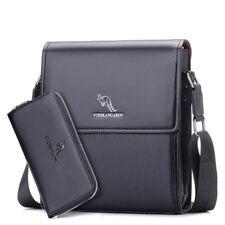 Mens Crossbody Bag Messenger Faux Leather Business Shoulder Bag