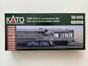 Kato 106-0440  New York Central 20th Century Locomotive 2 Unit Set N Scale