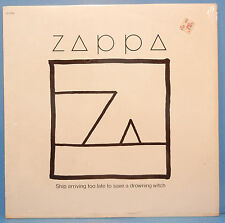 FRANK ZAPPA SHIP ARRIVING TOO LATE VINYL LP 1982 SHRINK PLAYS GREAT! VG+/VG+!!