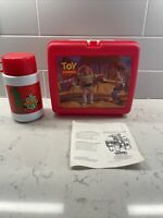 Vintage Disney Toy Story Lunch Box with Green Army Men Thermos & Instructions!