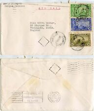 BAHAMAS INAGUA AIRMAIL 10d FRANKING KG6 1949 to GB 6d + 3d + 1d
