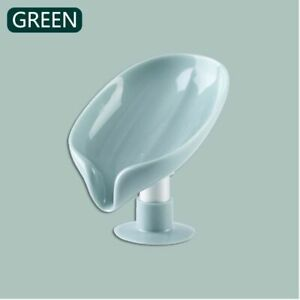 Leaf Shape Soap Box Drain Soap Holder Box Bathroom Shower Soap Holder sponge Sto