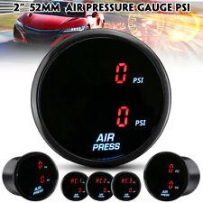 """2"""" 52mm PSI Air Pressure Gauge LED Dual Digital Display Air Ride Gauge w/Sensor"""