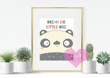 Dream Big PICCOLINO PANDA Nursery stampa kawaii