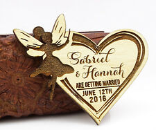 20 Save the Date Wooden Magnet Custom Engraved Wooden Magnet Rustic-CxX