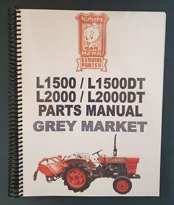 Kubota L1500, 1500DT, 2000, 2000DT Parts Manual PRINTED (Japanese / English)