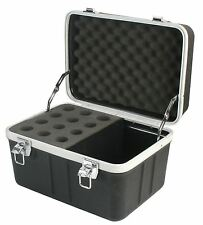 Pulse 12 Way ABS Aluminium Microphone Mic Flight Storage Travel Case PA DJ