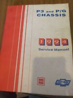 1994 Chevrolet GMC P3 And P/G Chassis Service Shop Manual