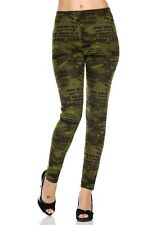Camoflouge Printed Legging with letter
