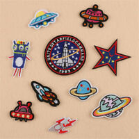 10 x Embroidery Space Planet UFO Sew Iron On Patch Badge Bag Hat Jeans Applique