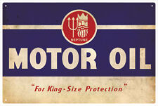 NEPTUNE MOTOR OIL VINTAGE  TIN SIGN