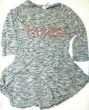 """Girl's Clothing, Total Girl Sz 12 Gray Rayon/Poly Tunic Top """"MEOW"""" NEW"""