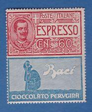 Italia 1924 pubblicitari espresso 60c non emesso MNH** OG nuovo gomma originale