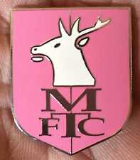 MANSFIELD TOWN LARGE GIRLS PINK CREST ENAMEL PIN BADGE