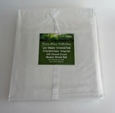 Green House Collection 4PC QUEEN Sheet Set ENVIRO FRIENDLY ORGANIC White NEW
