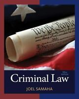 Criminal Law by Joel Samaha (2016, Hardcover)