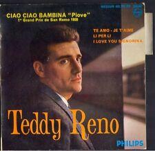 Italien / TEDDY RENO 1er Prix SAN REMO 1959 45T EP Biem / Philips 432.362