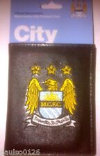 Manchester City Football Club Official Money Wallet with Embroidered Crest
