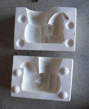 Vintage Weaver Mold Ceramic Mold  to Make a Small Ghost with Pumpkin Figurine