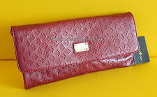PATRICK COX RED LEATHER SHOULDER/ CLUTCH BAG NWT