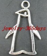 25pcs Tibetan Silver Penguin Frame Charms 43x28mm 12437