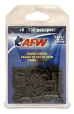 New listing Afw #6 Black Leader Sleeves .082 in (2.08mm) New! #J06B-B 100 Pack Single Barrel