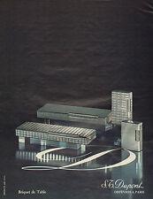 Publicité Advertising 1971  Briquet de Table Dupont Orfèvres à Paris