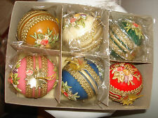 Unique Made In Western Germany Zierkerze Decorated Candle 6Pc Set Tree Ornaments
