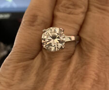 """""""Silver"""" Cubic Zirconia Solitaire Ring Size L"""