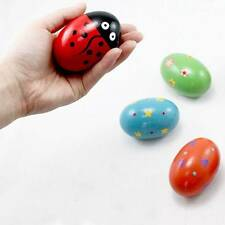 Children Baby Toys Rattles Wooden Music Egg Shaker Style Colorful Fun Play Gifts