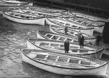 Titanic Lifeboats After Sinking PHOTO Wreck New York White Star Official Inspect