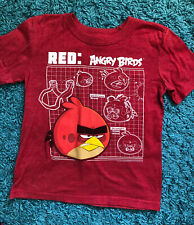 GapKids Boys Graphic Tee T-shirt Size S (6-7 years) Short sleeve Angry Birds Red