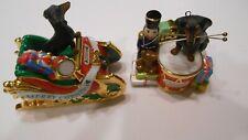 2 Danbury Mint Dachshund Christmas Ornments. 2004 & 2007.
