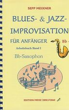 Blues- & Jazz-Improvisation für Bb-Saxophon + CD Band 1 Noten Saxofon Tenorsax
