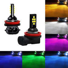 SOCAL-LED 2x H11 H8 Fog Light Bulb High Bright Upgraded 3030 Colorful DRL Lamp
