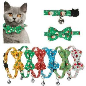 Christmas Cat Collars Kitten Necklace Xmas Cat Tie Pet Supplies Bell Pendant Hot