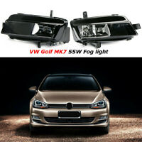 Pair Front Bumper Fog Lights Driving Without Bulb For VW Golf 7 MK7 2012-2016