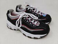New w/defect! Women's Skechers 11860 D'Lites -Life Saver Sneaker Blk/Wht/Pnk C53