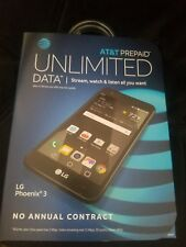 "New AT&T Prepaid GoPhone LG Phoenix 3 4G LTE 16GB 5"" Android Smartphone"