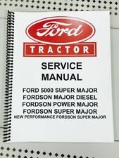 Ford 5000 Super Major Technical Service Shop Repair Manual Tractor Book