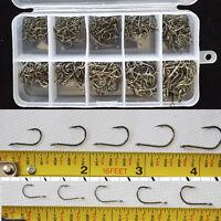 500 Pcs 3-12# 1-2.5CM Chemically Sharpened Octopus Beak Fishing Hooks. Bulk Pack