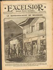GUERRE 14/18 JOURNAL EXCELSIOR BELGRADE BEOGRAD THESSALONIQUE THESSALONIKI 1915