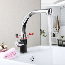 Deck Mounted Kitchen Sink Basin Monobloc Wash Basin Mixers Taps Chrome Faucet