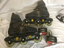 New Roller  Blades- Outback X Men's Size 11 Made in Italy Black & Brown