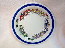 Tiffany Porcelain Race Cars 2002 Retired Plate Children Child's Dish -- Superb!