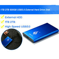 USB 3.0 2TB 1TB External Hard Drive Disk HDD 2.5'' Fit For PC Windows Portable