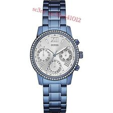 AUTHENTIC GUESS LADIES' MINI SUNRISE WATCH STONE SET W0623L4 Brand New RRP:$449