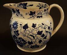 Blue & white flower design vintage pre Victorian antique jug